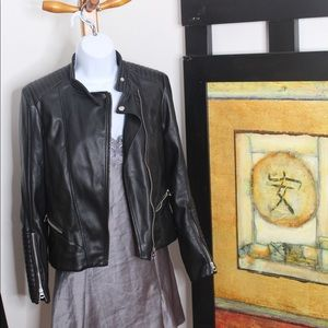 NWT H&M Faux Leather Jacket ; Size 4